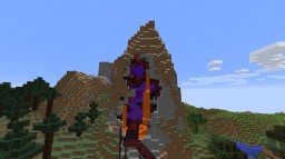 Minecraft Survival Nether Portal and Tower Minecraft Map & Project