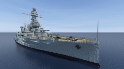 USS Texas (BB-35) scale 4:1 Minecraft Project