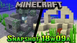 Minecraft Snapshot 18w09a | Aquatic Update Underwater Ruins Minecraft Blog Post