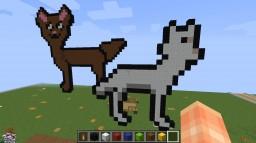 Wolf Pixel Art Minecraft Map & Project