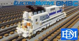 [1.5:1 Scale] EMD EMDX GM6C electric locomotive Minecraft Map & Project