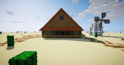 Courage the cowardly dog house Minecraft