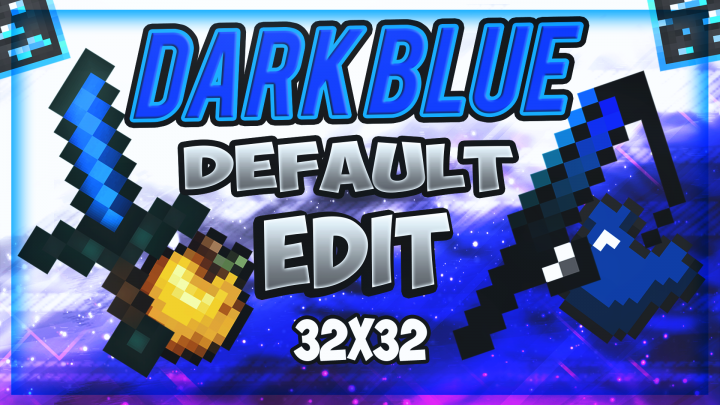 Popular Texture Pack : Best Blue Default Edit 32x32 UHC/PvP Texture Pack!