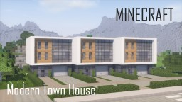 Minecraft Modern Town House 2 (full interior) Minecraft Map & Project