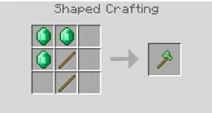 Emerald Axe Crafting Recipe