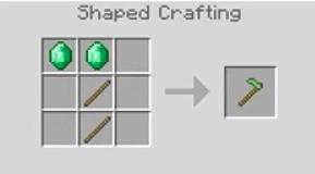 Emerald Hoe Crafting Recipe