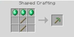 Emerald Pickaxe Crafting Recipe