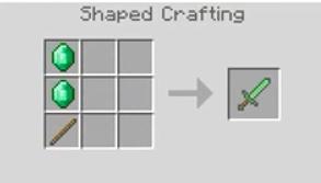 Emerald Sword Crafting Recipe