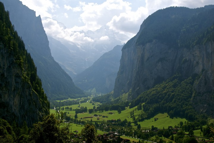 The beautiful valley of Lauterbrunnen in Switzerland, which inspired Tolkien to create Rivendell