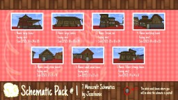 Schematic Pack #1 Minecraft Map & Project