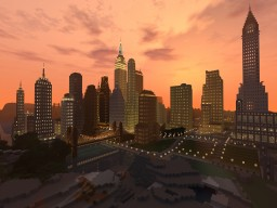 Art Decó city (100% survival) massive solo project , new york 30s style Minecraft Map & Project