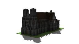 Cathédrale de Reims Minecraft Map & Project