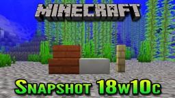 Minecraft Snapshot 18w10c | New Water Physics (Build Underwater) Minecraft Blog Post