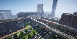 Sześcianowo City Main Train Station Minecraft Map & Project