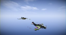 Spitfire And Bf 109 Minecraft Map & Project