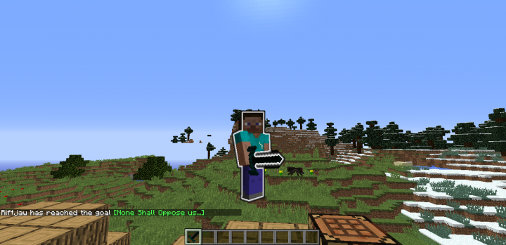 Flying with the ender sword