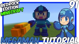 MegaMan 3d Statue Tutorial Minecraft Map & Project