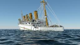 HMHS Britannic sinking at 8.45 AM Minecraft