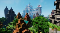 Castle and town Minecraft