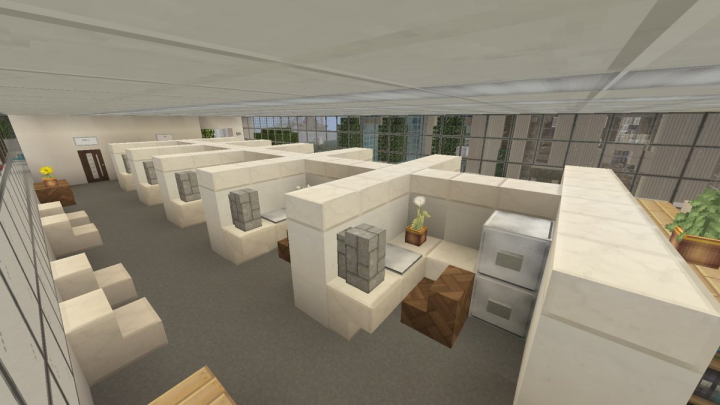 Office Cubicles in 2F-6F.