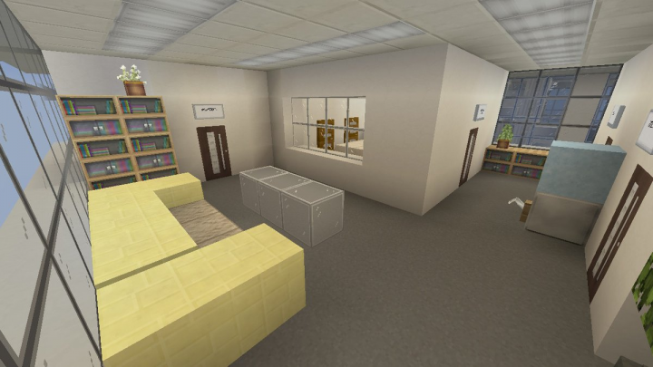 7F-8F lobby. 8F has big conference room instead of break room.
