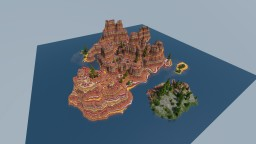 Mesa Island created with World Painter By Toryar Minecraft Map & Project