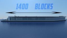 Freedom Ship 1:1 (World Record) Minecraft