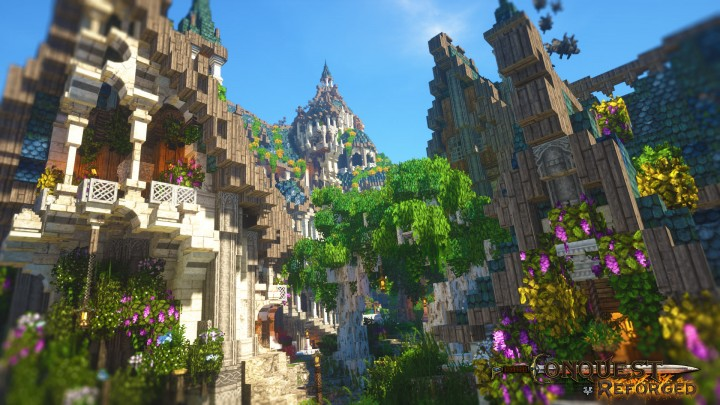 The elven town comes alive on a lavish summer day.