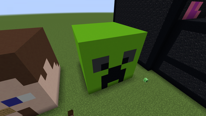 The creeper head was the easiest to make, since it only has 3 colors.