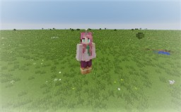 How To place a block one ur head Minecraft