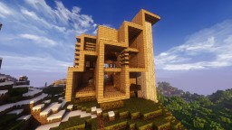 Modern Wood 3 Story House Minecraft Map & Project