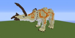 Organic Dinosaur Triceratops Minecraft Map & Project