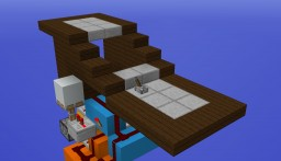 Minecraft Redstone: Secret Slab Staircase Minecraft Map & Project