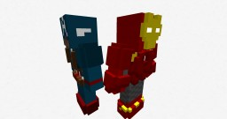 Captain America & Iron Man Amour (Amourer's Workshop) Minecraft Mod