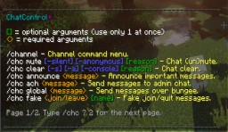 How To Use ChatControl Minecraft Blog Post