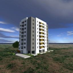 Simple Apartment Building 1 [Download] Minecraft