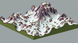 Candy Crush Mountains 1000 x 1000 Abstract Terraforming Map Minecraft