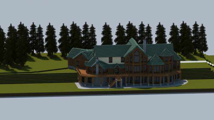 Popular Project : Log Home Mansion