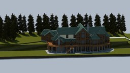Log Home Mansion Minecraft Map & Project