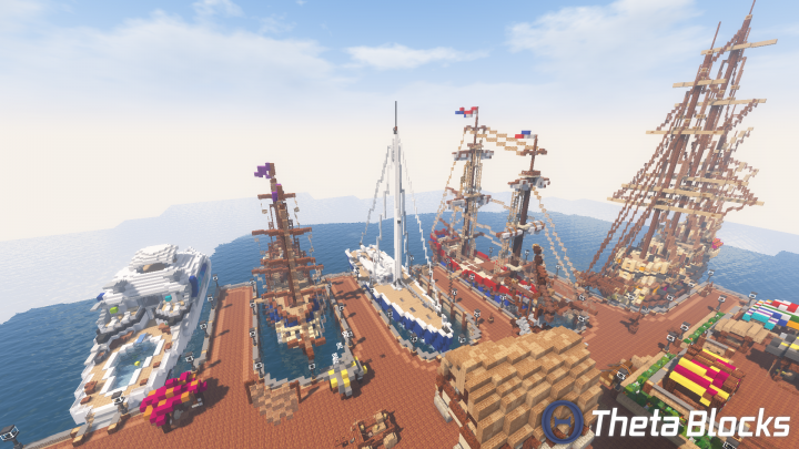 Ships set sail at the high tide for adventure and fame!