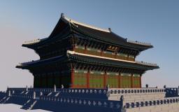 oriental architecture : geunjeongjeon Minecraft