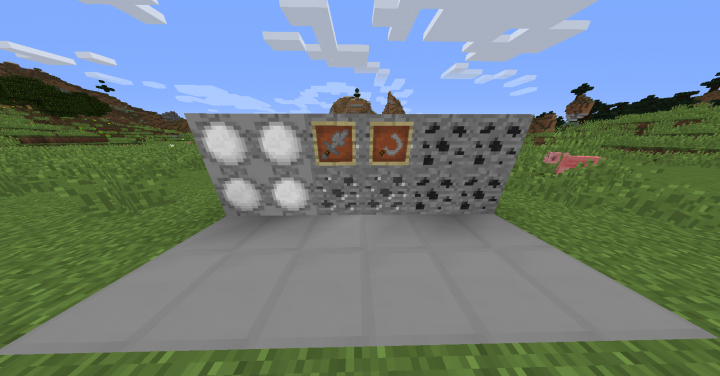 Snow Ore, Steel Ore, and Flint Ore W SwordAxe and Sickle