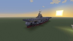 USS Intrepid aircraft carrier bathtub build Minecraft Map & Project