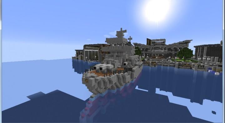 Popular Server Project : Japanese Pre-WW1 Battleship Mikasa (Movecraft/NavyCraft)