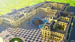 The Louvre museum - 1:1 recreation Minecraft