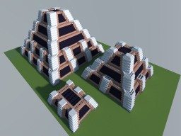 Egyptian Stepped Pyramid and Mastaba Building Pack (+intact tombs) Minecraft