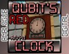 Qubit's AM/PM Analogue/Digital Clock - Red Minecraft Texture Pack