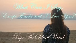 Poem | What Can I Say, Except Thanks and I love you? | TheSilentWind Minecraft Blog Post