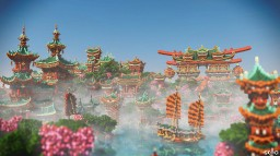 Xin Tiantang, an oriental utopia 2500x2500 [TIMELAPSE] [DOWNLOAD] Minecraft Map & Project