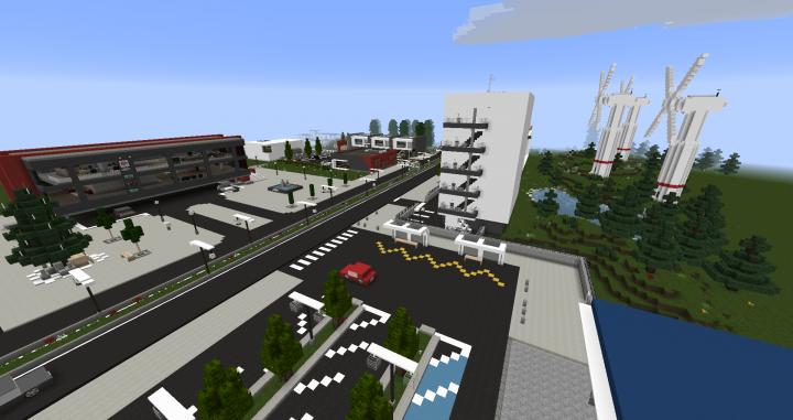 Simple ville moderne minecraft saison with ville moderne - Maison de ville moderne design klein ...